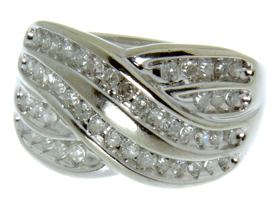 1.00ct Diamond Crossover Band Ring - Chicago Pawners & Jewelers