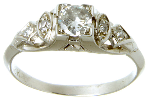 1930s Art Deco Diamond Engagement Ring