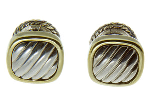 David Yurman Gold & Silver Cable Cufflinks - Chicago Pawners & Jewelers