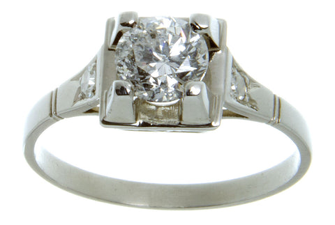 1950s 0.94ct Diamond Engagement Ring