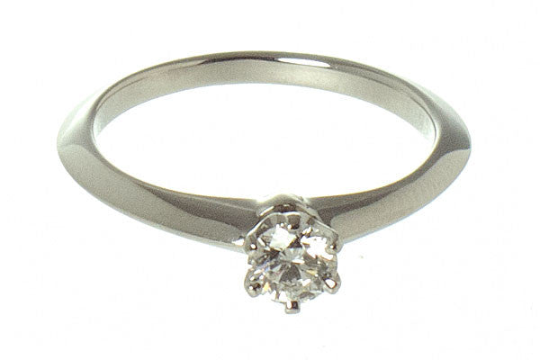 Tiffany Platinum Diamond 0.25ct Solitaire Engagement Ring - Chicago Pawners & Jewelers
