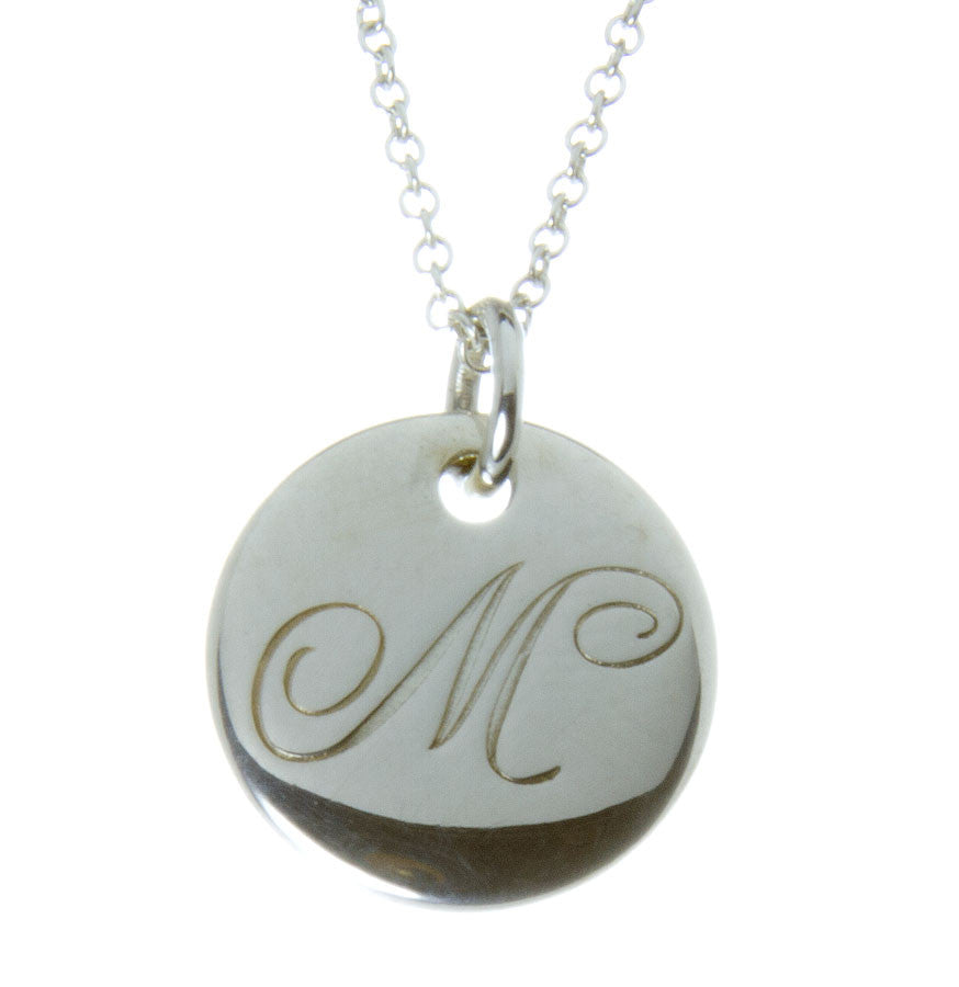 "Tiffany & Co. Notes Alphabet ""M"" Disc Pendant"