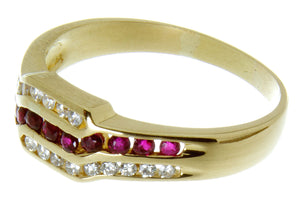 18k Ruby & Diamond Band Ring - Chicago Pawners & Jewelers