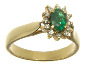 14K Emerald & Diamond Ring - Chicago Pawners & Jewelers