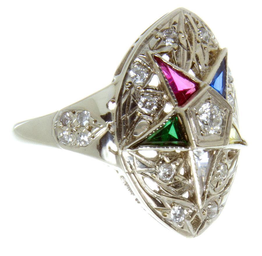 Vintage Diamond Eastern Star Ring - Chicago Pawners & Jewelers
