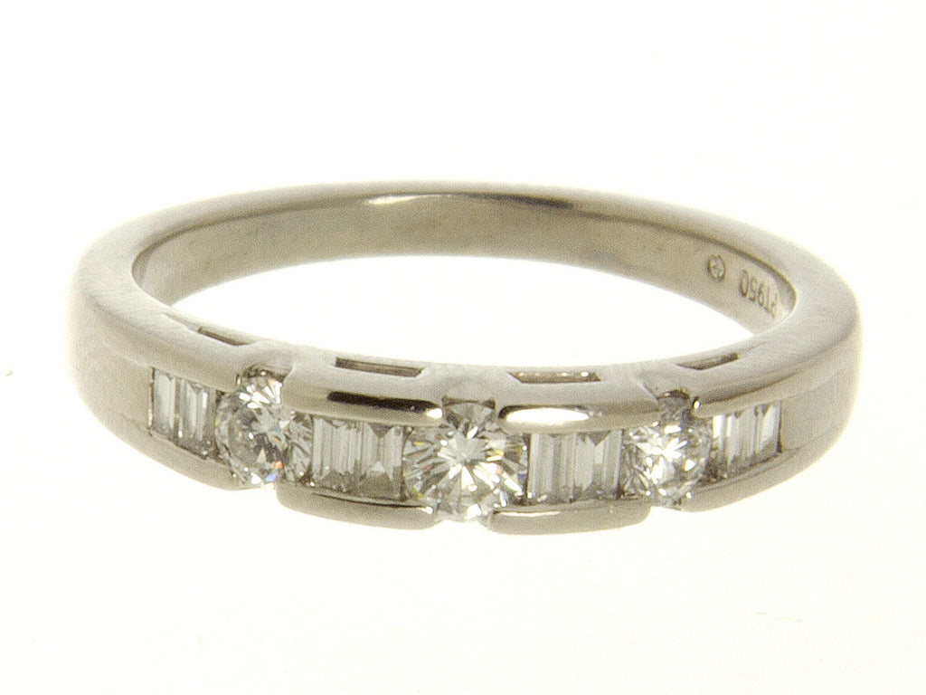 Platinum 1/2ct Diamond Wedding Band