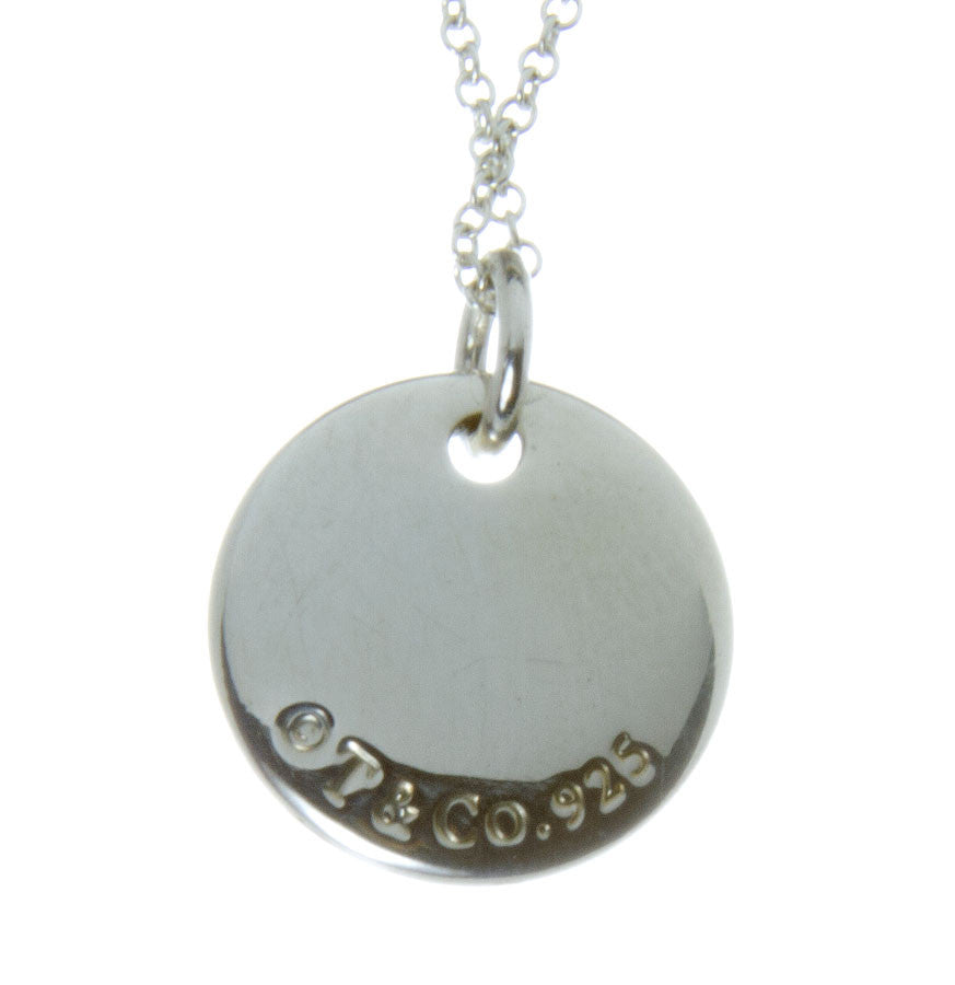 "Tiffany & Co. Notes Alphabet ""M"" Disc Pendant - Chicago Pawners & Jewelers"