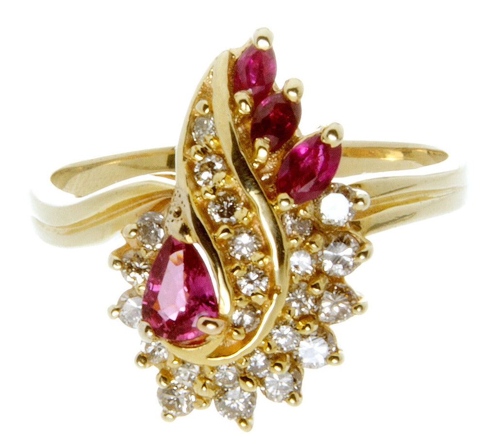 1.70ct Ruby & Diamond Cocktail Ring - Chicago Pawners & Jewelers