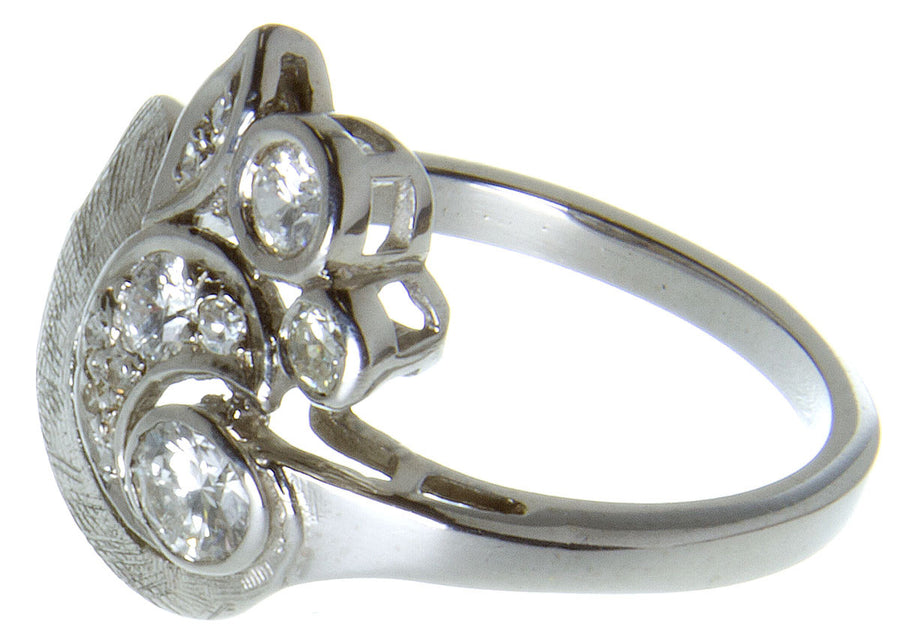 1950s Diamond Floral Cocktail Ring - Chicago Pawners & Jewelers