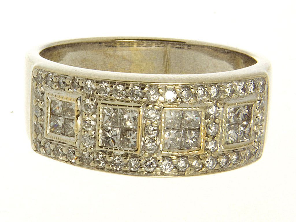 1.00ct Princess Cut & Round Diamond Band ring - Chicago Pawners & Jewelers