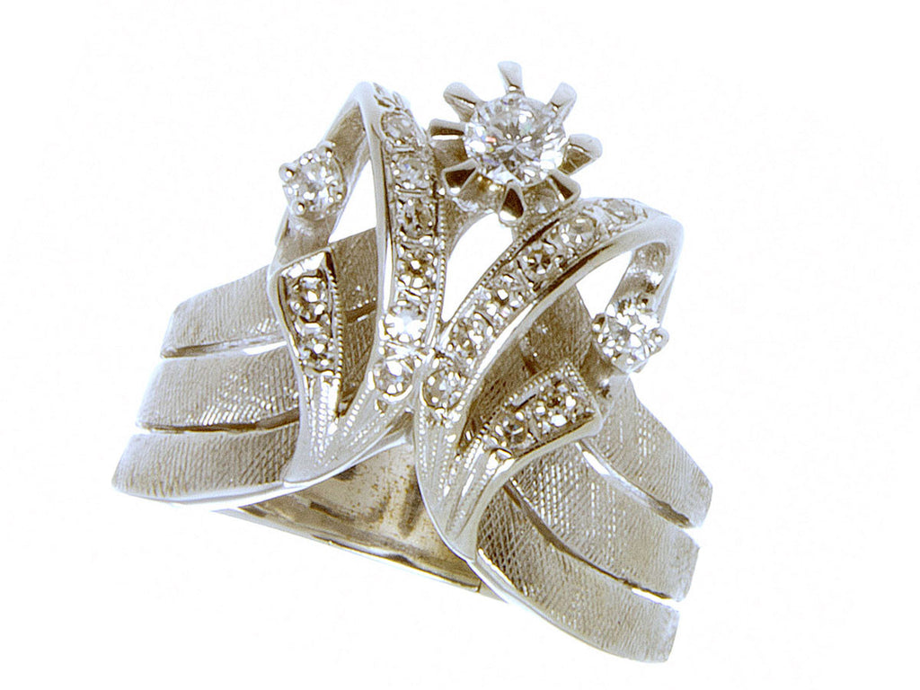 1950s Diamond Tiara Engagement Ring - Chicago Pawners & Jewelers