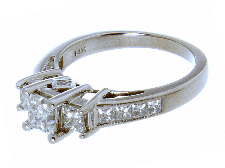 2.00ct Diamond Three Stone Engagement Ring - Chicago Pawners & Jewelers