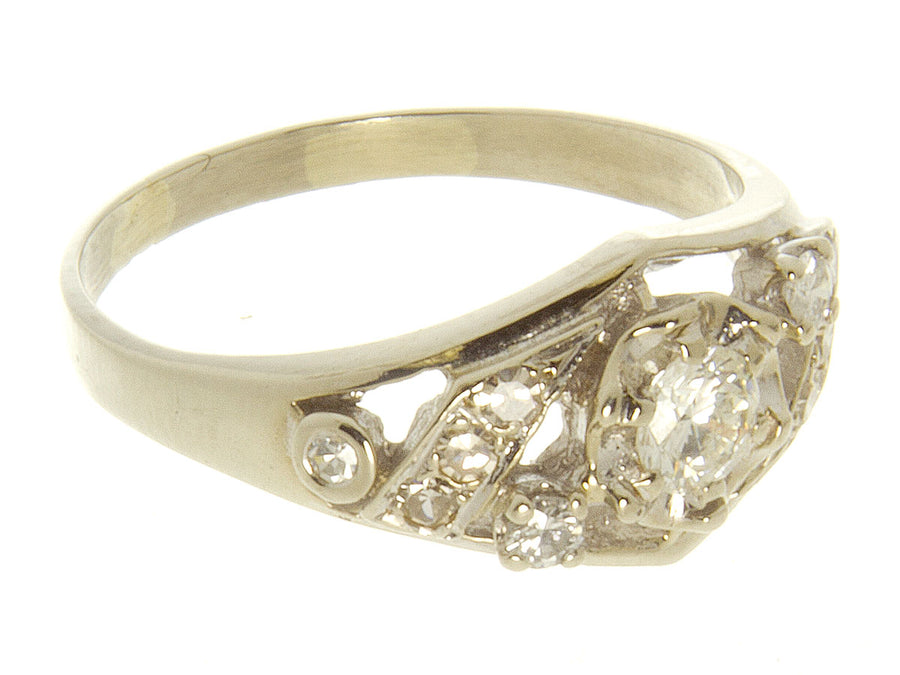 1950s 1/2ct Diamond Cocktail Ring - Chicago Pawners & Jewelers