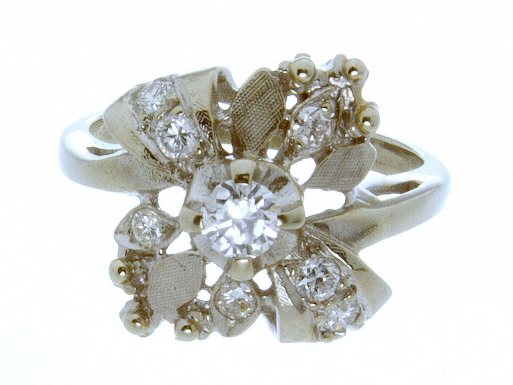 1940-1950s Diamond Cocktail Ring - Chicago Pawners & Jewelers