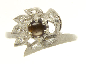 Vintage Black Star Sapphire & Diamond Ring