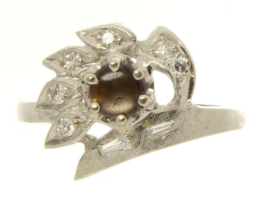 Vintage Black Star Sapphire & Diamond Ring - Chicago Pawners & Jewelers