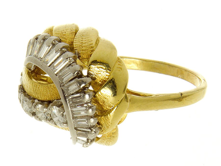 18kt Gold & Platinum Diamond Ring - Chicago Pawners & Jewelers