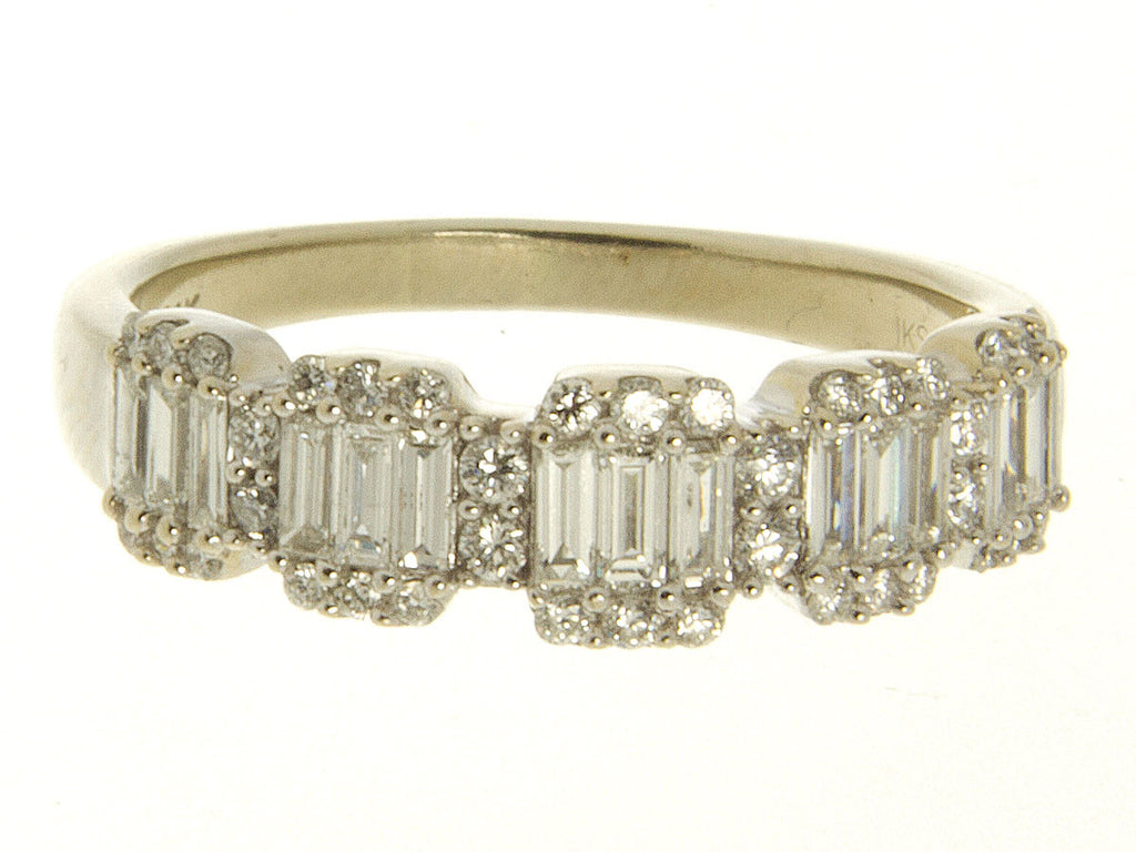 1.08ct Round & Baguette Diamond Band Ring - Chicago Pawners & Jewelers