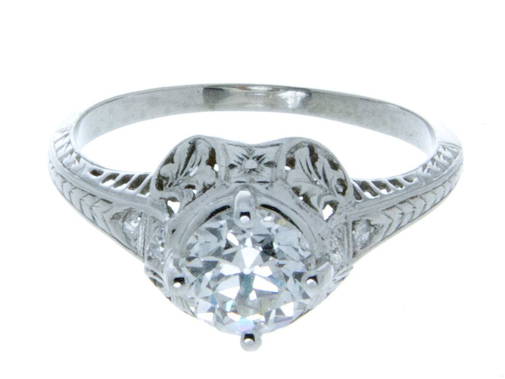 Edwardian Platinum Diamond Engagement Ring