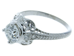 Edwardian Platinum Diamond Engagement Ring - Chicago Pawners & Jewelers