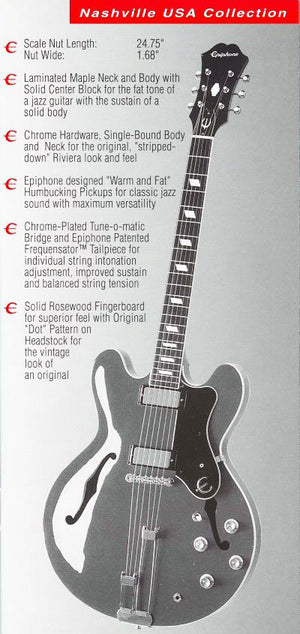 Epiphone Riviera USA Made Limited Edition - Chicago Pawners & Jewelers