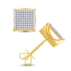 0.49ct Diamond Square Earrings