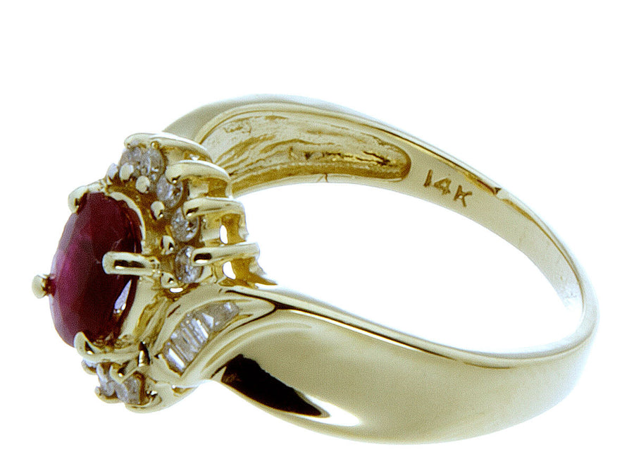 1.25ct Ruby & Diamond Ring in 14K Gold - Chicago Pawners & Jewelers