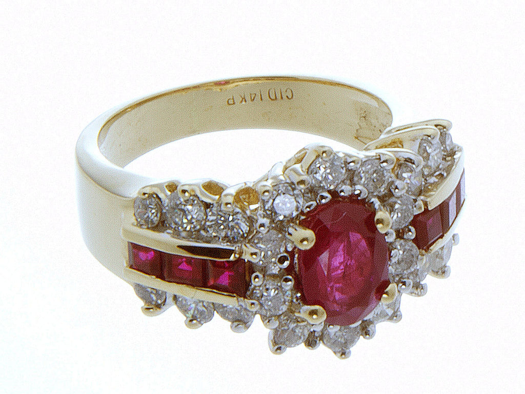 2.50ct Ruby & Diamond Ring - Chicago Pawners & Jewelers