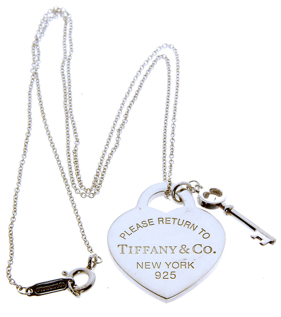 Tiffany & Co. Return to Tiffany Heart Tag with Key Pendant - Chicago Pawners & Jewelers