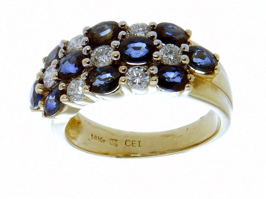 3.00ct Sapphire & Diamond Band Ring - Chicago Pawners & Jewelers