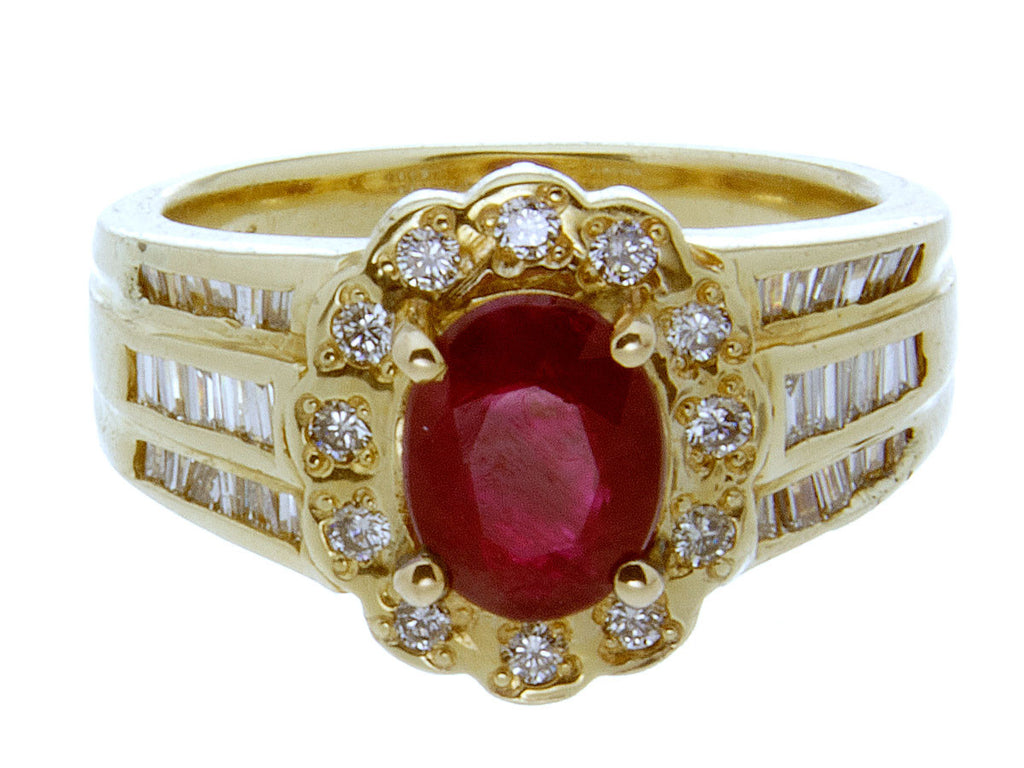 1.96ct Ruby & Diamond Ring - Chicago Pawners & Jewelers