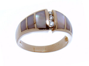 Mother of Pearl & Diamond 14K Ring - Chicago Pawners & Jewelers