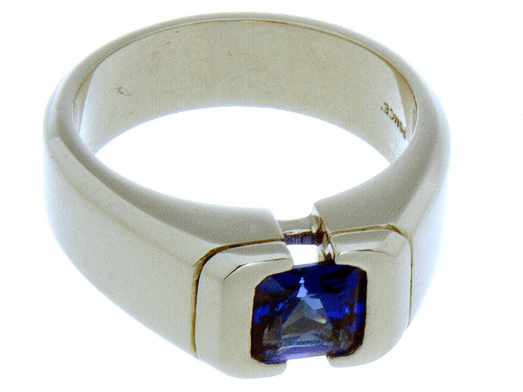 diamond tanzanite rings in palladium ring mens wolf and