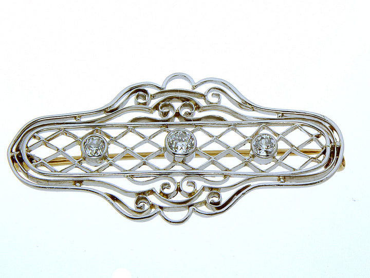 1930s Platinum & Diamond Pin - Chicago Pawners & Jewelers