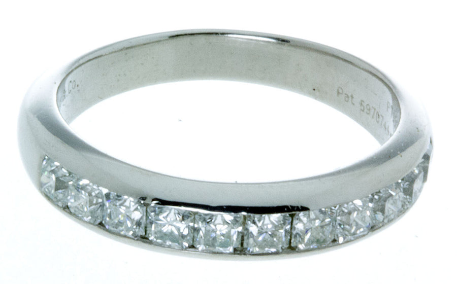 Tiffany & Co. Platinum Lucida Diamond Wedding Band - Chicago Pawners & Jewelers