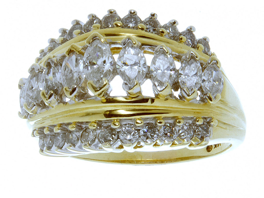 1.30ct Marquise & Round Diamond Band Ring - Chicago Pawners & Jewelers