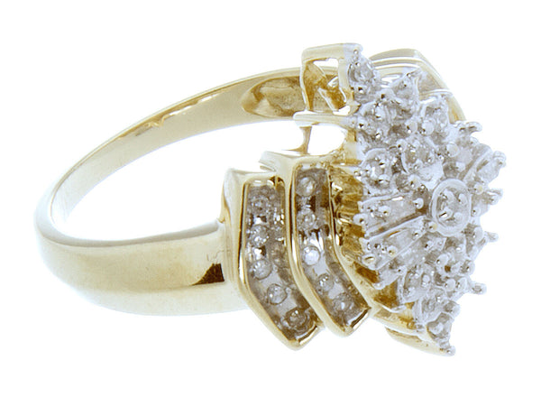Round & Baguette Diamond Cocktail Ring – Chicago Pawners & Jewelers