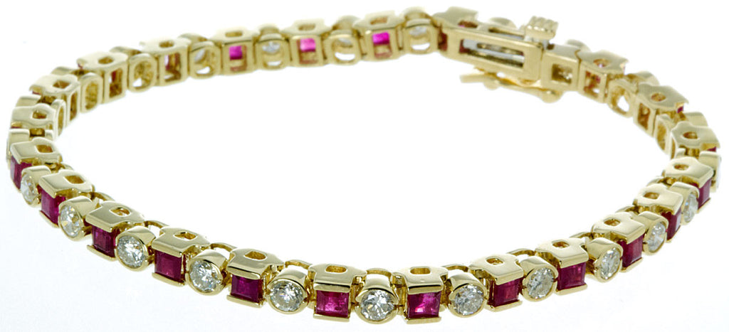 5.76ct Ruby & Diamond Bracelet - Chicago Pawners & Jewelers