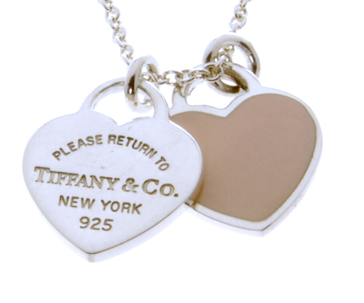 Tiffany Co Return To Tiffany Double Heart Tag Pendant Chicago Pawners Jewelers