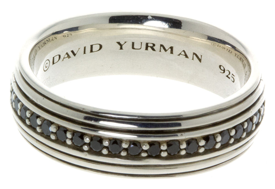 David Yurman Black Diamond Wedding Band - Chicago Pawners & Jewelers