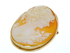 Vintage 14KT Cameo Pin/Pendant - Chicago Pawners & Jewelers