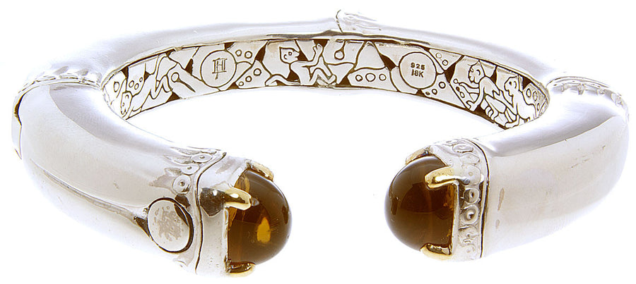 John Hardy Citrine Hinged Bangle Bracelet - Chicago Pawners & Jewelers