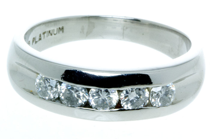 Platinum 1.00ct Diamond Wedding Band
