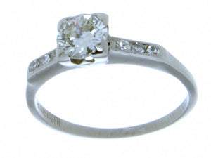 1950s Platinum Diamond Engagement Ring - Chicago Pawners & Jewelers