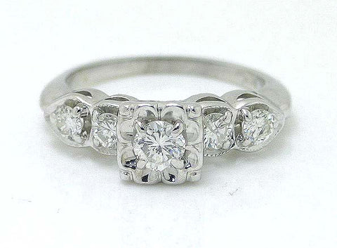 Vintage 1950s 3/4ct Diamond Engagement Ring