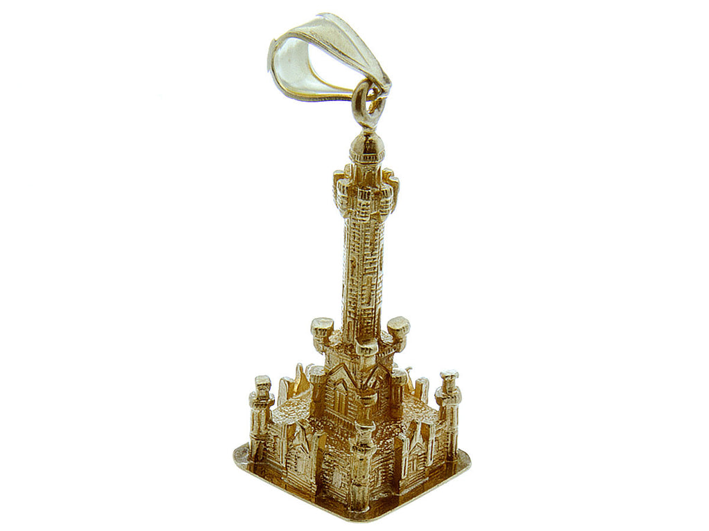Vintage 14K Gold Chicago Water Tower Charm