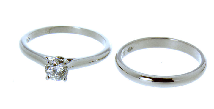 Cartier Platinum Diamond Wedding Set - Chicago Pawners & Jewelers