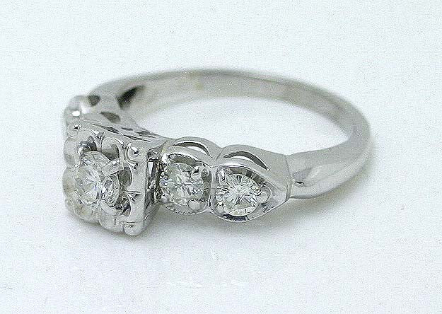 Vintage 1950s 3 4ct Diamond Engagement Ring – Chicago Pawners & Jewelers