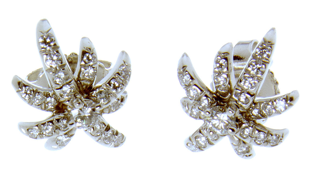 Tiffany & Co. Platinum Diamond Starburst Earrings