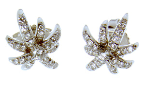 Tiffany & Co. Platinum Diamond Starburst Earrings - Chicago Pawners & Jewelers